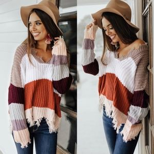 KELSIE Color block Sweater